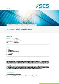 SCS Formblatt DE Logistikvereinbarungen